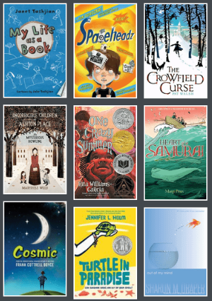 Book covers from 2011-2012 Battle of the Books title list