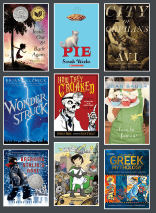 Cover images from 2012-2013 Battle of the Books