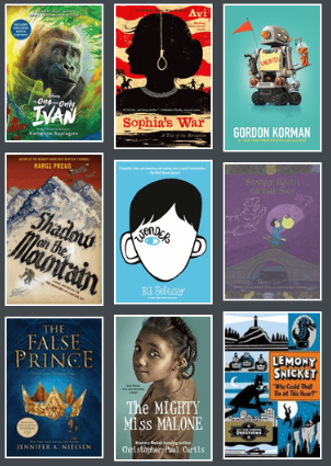 Book covers from 2013-2014 Battle of the Books title list