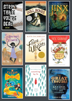 Cover images from 2014-2015 Battle of the Books