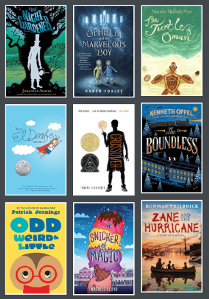 Book covers from 2015-2016 Battle of the Books title list