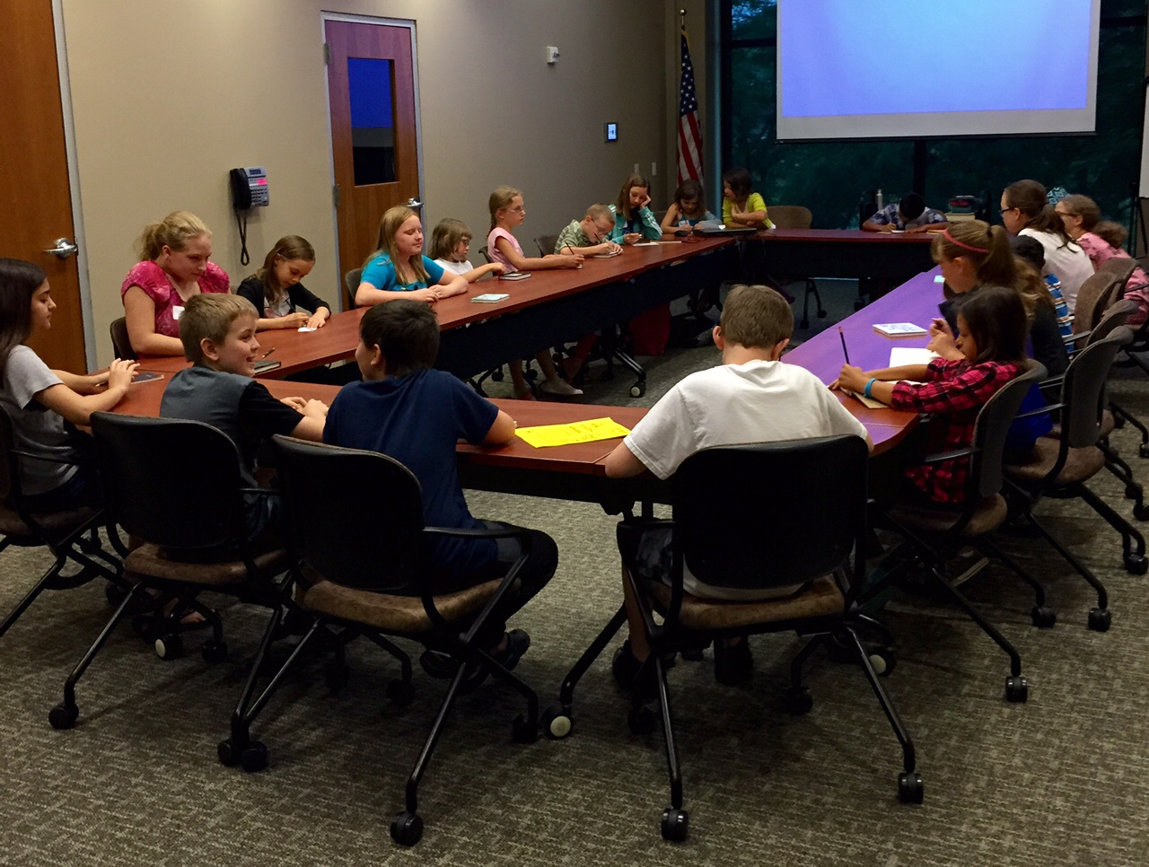 Summer Writing Camp 2015 participants