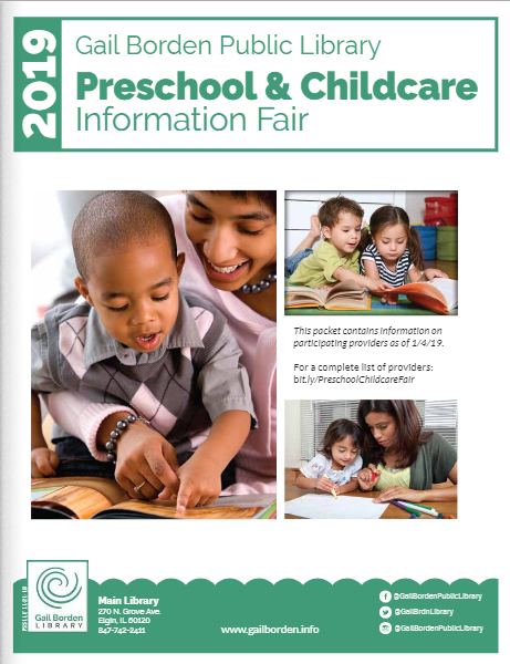 Cover of preschool information packet