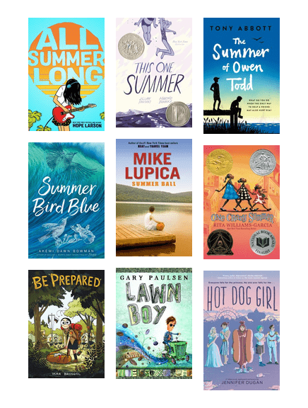 Images of summer-themed book covers