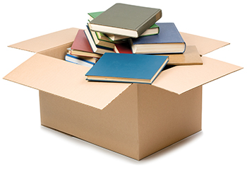 photograph of box with books
