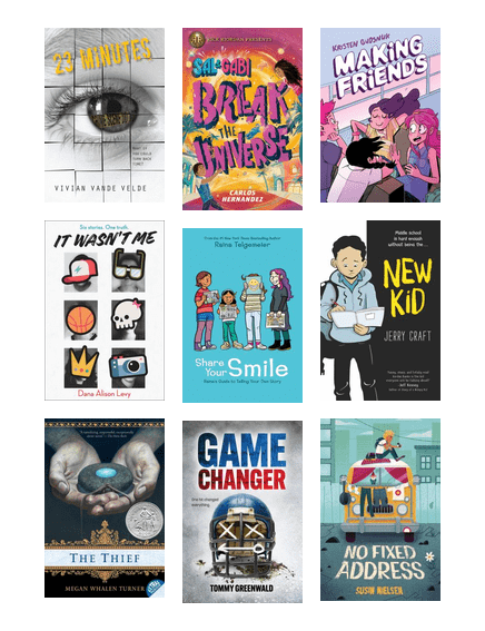 Booktalked titles for grades 6 and 7